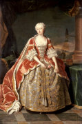 Portrait Of Augusta, Princess Of Wales (1719-1772) Circa 1742 by Jean-Baptiste van Loo