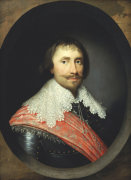 Portrait Of Robert De Vere, The 19th Earl Of Oxford, 1629 by Cornelius Johnson