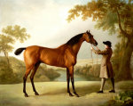 Tristram Shandy - A Bay Racehorse held by a Groom in an Extensive Landscape c.1760