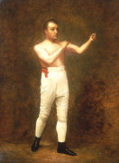 Portrait Of A Boxer Said To Be Tom Sayers Circa 1860