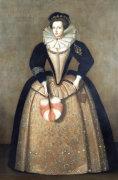 Portrait Of A Lady Traditionally Identified As Elizabeth Sydenham, Lady Drake by English School