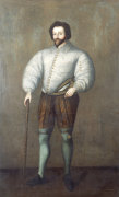 Portrait Of A Gentleman Traditionally Identified As Sir Francis Drake by English School