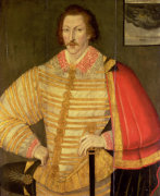 Portrait Of A Gentleman, Thought To Be English Navigator Thomas Cavendish by John Bettes The Younger