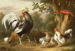Poultry And Other Birds In The Garden Of A Mansion by Jacob Bogdany