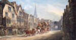 The London To Exeter Royal Mail Passing Through Salisbury, 1895 by John Christian Maggs
