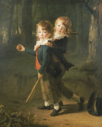 The Masters Foster: Portrait Of The Sons Of Constantia And Richard Foster by Henri Pierre Danloux