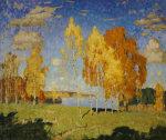 Landscape With Birch Trees, 1922 by Konstantin Ivanovich Gorbatov