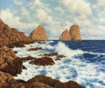 The Rocks At Capri by Ivan Federovich Choultse