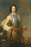 Portrait Of Peter The Great (1682-1725) by Maria Giovanna Battista Clementi