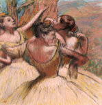 Three Dancers. Trois Danseuses, Circa 1899 by Edgar Degas