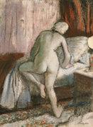 Bedtime, Circa 1883 by Edgar Degas