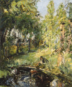Finding Moses (Antonie By The Pond), 1913 by Max Slevogt