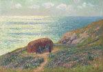 Ramasseuses De Goemon A Moelan, Bretagne, 1900 by Henry Moret