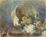 Chrysanthemes Or Corbeille Renversee, 1885 by Berthe Morisot