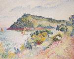 The Black Cape, Pramousquier Bay, 1906 by Henri-Edmond Cross