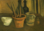 Still Life Of Paintbrushes In A Flowerpot, 1884 by Vincent Van Gogh