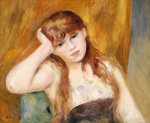 Jeune Fille Blonde, 1886 by Pierre Auguste Renoir