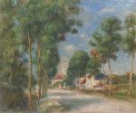 Entree Du Village D'essoyes, 1901 by Pierre Auguste Renoir