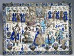 A Large Qajar Rectangular Tile