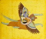 Vishnu And Lakshmi On Garuda Bundi C.1700