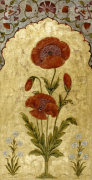 Poppy Blossoms On Gold, 1770 by Christie's Images