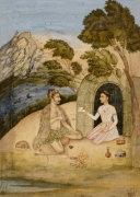 A Lady Entertaining A Bhil By Ali Quli Jubadar, Kashmir, 1650 by Christie's Images