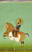 Equestrian Portrait Of Maharana Sarup Singh C. 1858 by Christie's Images