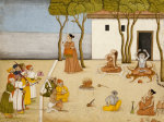 Nobles Offering Gifts To A Group Of Ascetics. Kangra, Circa 1800 by Christie's Images
