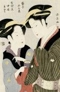 Portrait Of Moto, A Maidservant Of The Yoshidaya by Eishosai Choki