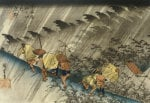 Driving Rain, Shono. From The Series 'The Fifty Three Stations Of The Tokaido' by Ando Hiroshige