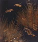 A Roironuri Suzuribako (Writing Case) Depicting Dragonflies by Christie's Images