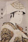 An Okubi-E Portrait Of The Actor Nakamura Noshio II by Utagawa Kunimasa