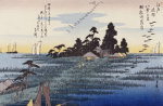 Descending Geese At Haneda by Ando Hiroshige