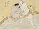 The Match Between Tanikaze Kajinosuke And Kimenzan Tanigoro by Katsukawa Shunsho