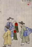 Wine Merchants. From An Album Of Scenes Of Daily Life by Kim Junkeun