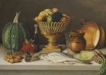 Still Life With Fish And A Pumpkin (Dining Room Scene) by Jose Agustin Arrieta