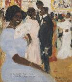 Negro Ball, 1912 by Rafael Perez Barradas