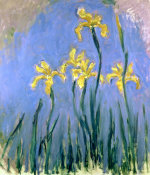 Yellow Irises, Circa 1918 by Claude Monet