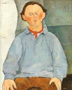 Portrait Of Sculptor Oscar Miestchanioff, Circa 1916 by Amedeo Modigliani