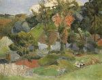Landscape At Pont Aven, 1888 by Paul Gauguin
