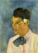 Young Man With A Flower, 1891 by Paul Gauguin