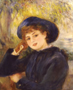 Portrait Of Madamoiselle Demarsy, 1882 by Pierre Auguste Renoir