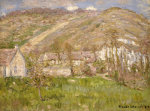 Hamlet On A Cliff Near Giverny by Claude Monet