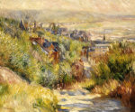 The Heights At Trouville by Pierre Auguste Renoir