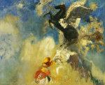 The Black Pegasus by Odilon Redon