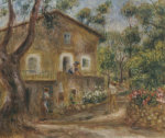 Collette's House At Cagne, 1912 by Pierre Auguste Renoir