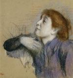 Bust Of A Woman, Circa 1880 by Edgar Degas