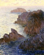 Rocky Point At Port-Goulphar by Claude Monet