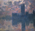 Parliament, Sunset, 1902 by Claude Monet