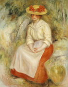 Gabrielle In A Straw Hat, 1900 by Pierre Auguste Renoir